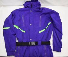 Obermeyer Men's Ski Suit Size Medium Purple Snowboard High Viz Stripes