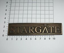 Stargate SG1 Atlantis film plaque Bronze prop replica name plate