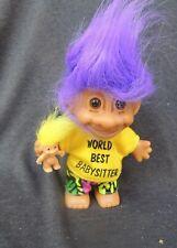 Russ World'S Best Babysitter Troll Baby Toll in left Hand