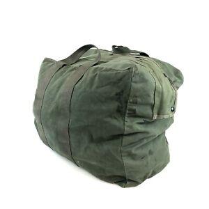 Vintage Flyers Kit Bag, OD Green Military USGI Heavy Duty Travel Bag Zippered