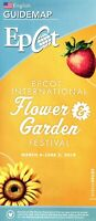 2019 Epcot Flower & Garden Festival Fold Out Guidemap - Garden Rocks Concerts