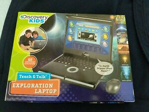 DISCOVERY KIDS TEACH AND TALK EXPLORATION LAPTOP w/Mouse,Batteries,Manual,New