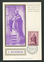 VATICAN MK 1963 ST. METHODIUS MAXIMUMKARTE CARTE MAXIMUM CARD MC CM d6875
