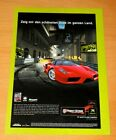 2003 Project Gotham Racing 2 Xbox Official Promo Vintage Poster  Ad Art Print