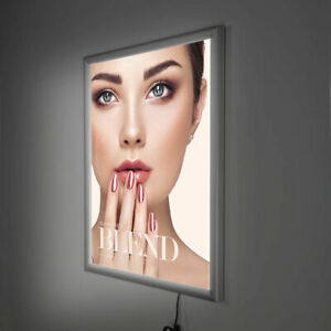 A4 A3 A2 A1 LED Wall Mount backlit poster lightbox light up frame illuminated