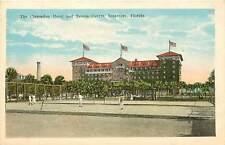 Florida, Fl, Seabreeze, Clarendon Hotel & Tennis Courts 1920's Postcard