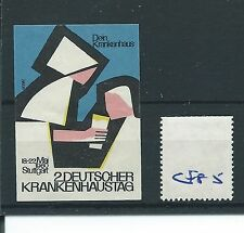 wbc. - CINDERELLA/POSTER - CF85 - EUROPE -DEUTSCHER KRANKENHAUSTAG STUTTGART '60
