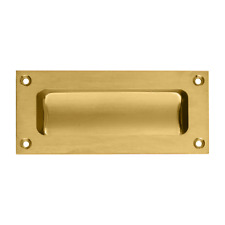 Carlisle Brass Polished Brass Flush Pull Insert Slide Recessed Handle 102x45mm
