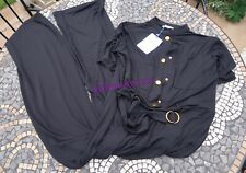 Black Zara Flowing Buttoned Short Sleeved Jumpsuit Small S 8 New