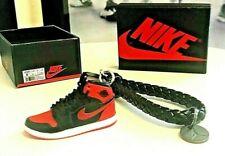 "3D MIni Sneaker Keychain Air Jordan 1's ""Bred"" Michael Jordan #23"