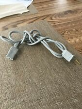 White 6ft AC Power Cord Cable Monitor Computer TV Printer 3 Prong US Cord