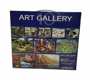 Art Gallery Puzzle Lot Of 10 Five 500pc Three 750pc Two 1000pc 6750 total Pieces