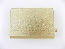 MICHAEL KORS BARBARA Gold COIN CARD CASE Women's Mini Wallet