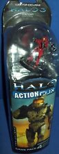 Miniature FIgures HALO ACTION CLIX RED SPARTAN black weapon gun Combat Game NEW