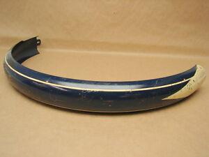 """Vtg NOS Schwinn DX Bicycle Dark Blue White Stripes 24"""" Balloon Tire Rear Fender"""