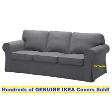 Ikea EKTORP Three (3) Seat Sofa Slipcover Cover NORDVALLA DARK GRAY New! Sealed!