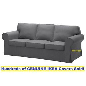 Ikea EKTORP Three (3) Seat Sofa Slipcover Cover NORDVALLA DARK GRAY New in Box!