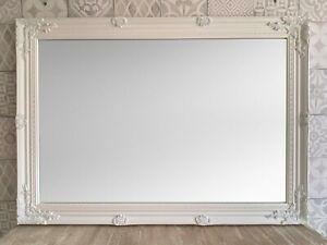 "STUNNING WHITE EXTRA LARGE WALL MIRROR - 30"" x 42"" (75 x 105 cm) -Superb Quality"