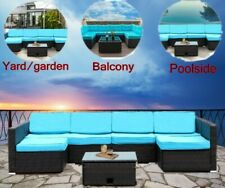 7 PCS Patio Rattan Wicker Sofa Outdoor Sectional Furniture Couch Yard Balcony