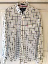 Abercrombie And Fitch Men's Muscle Button Up Cotton Plaid Check Dress Shirt L