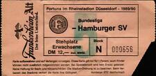 Ticket BL 89/90 Fortuna Düsseldorf - Hamburger SV