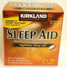 Kirkland Signature Sleep Aid Sleeping Pills 192 Tablets