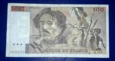 BANCONOTA 100 FRANCHI FRANCIA 1990 EUGENE DELACROIX