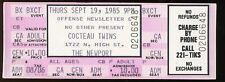 Cocteau Twins UNUSED 1985 CONCERT TICKET Famous Columbus Date stub/no-cd/lp MINT