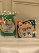 Mcdonald's Happy Meal Holiday Barbie Figurines 1995 & 1996 Still Sealed