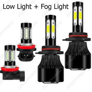 For Mitsubishi Lancer 2008-2015 Front LED Headlight Low + Fog Light Bulbs Kit 4X