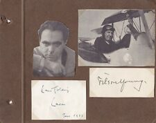 LOUIS GOLDING-FILSON YOUNG-SIGNED SCRAPBOOK/ALBUM BOOK COVER-AFTAL/UACC RD316