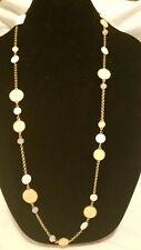 NEW Lia Sophia Single Strand Long Beaded Necklace Adjustable