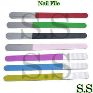 Metal Stainless Steel Nail File Double Sided Manicure Pedicure 18.5 Cm