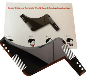 1Pc Mens Beard Shaping Tool Styling Template Shaper Stencil Trimming Face Comb