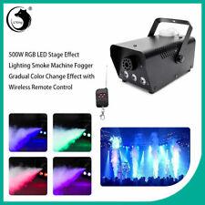 RGB LED Smoke Machine Fog Effect Christmas DJ Party Disco Coloured Flame 500W