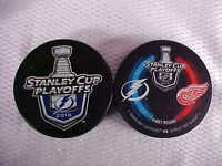 2016 NHL Tampa Bay Lightning Stanley Cup Playoffs Two Hockey Puck Souvenir Pack