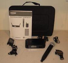 Shure SM58 Microphone GLXD2 Wireless Transmitter & GLXD4 Receiver - 2.4GHz GLX-D