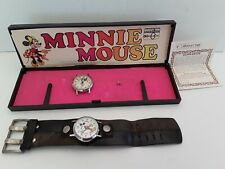 1962 Bradley Time Minnie Mouse & Mickey Mouse Watch swiss Made 62