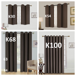 1/2PC100% BLACKOUT UNLINED HEAVY THICK THERMAL PANELS WINDOW CURTAIN TREATMENT
