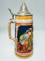 "VINTAGE BEER STEIN BY PETER SIMON GERZ WESTERN GERMANY 11"" E06"
