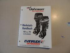 Werkstatthandbuch Johnson Evinrude Außenborder EO 1995 3-Zyl 25 50 60 65 70 PS