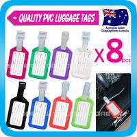 8 x Luggage Tag Tavel ID Tag Plastic Address Label Tag for Backpack Handbag