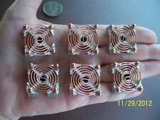 COPPER COILS Energy Generator Activators 6 Pc Set, Orgone, Reiki Crystal Grid C