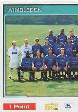 N°520 TEAM EQUIPE 1/2 WIMBLEDON.FC STICKER MERLIN PREMIER LEAGUE 1999