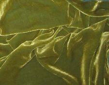 "Silk VELVET Fabric YELLOW GREEN 9""x22"" remnant"