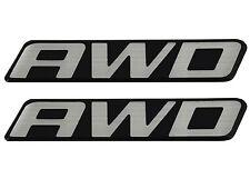 2New OEM AWD Front Door Rear Hatch Truck Logo Emblem Badge Nameplate Decal Wagon