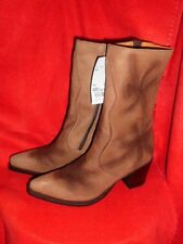 FRYE Boots Cowboystiefel gr.36 Westernstiefel Braun Leder NEU