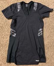 REEBOK Compression Short Sleeve Top Black W/ Gray Size M