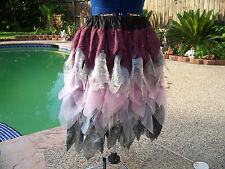 Fairy Princess Coplay Renaissance Festival Skirt Pink Purple Silver Black Ladies