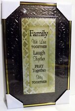 Family Live Laugh Pray Stay Together Inspirational  Wall Picture,Wall Plaque NEW